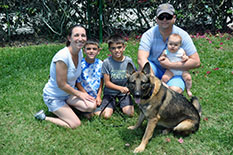 Rescued Dogs - SAMMY WITH BRENT CHRISSY AND KIDS DELANEY